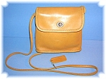 Tan Coach Leather Small Shoulder Bag
