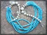Click to view larger image of Navajo TOMMY SINGER Turquoise Sterling Silver Necklace (Image3)