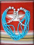 Click to view larger image of Navajo TOMMY SINGER Turquoise Sterling Silver Necklace (Image6)