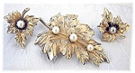 Beautiful CORO Pearl Brooch & Earrings