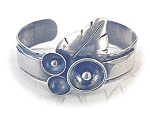 Click here to enlarge image and see more about item 0511200556: Arts & Crafts Sterling Silver  Cuff Bracelet Signed T