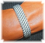 Click to view larger image of Sterling Silver Woven Bracelet 65.4 grams (Image1)