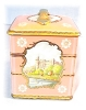 Click to view larger image of Wonderful Pink Tin Container Made In England (Image5)