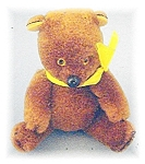 Click here to enlarge image and see more about item 0513200446: Teddy Bear Brown Plush 4 1/4 inches