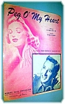 Click here to enlarge image and see more about item 0513200610: SHEET MUSIC PEG O' MY HEART.....