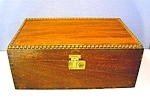 Click here to enlarge image and see more about item 0515200801: Walnut wooden box - cigar box ?
