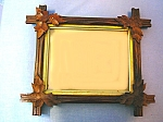 Click here to enlarge image and see more about item 0515200802: Vintage Oak Leaf Picture Frame  . . . .