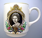 Click here to enlarge image and see more about item 0518200802: Queen Elizabeth II Silver Jubilee Cup, Mug . . . . .