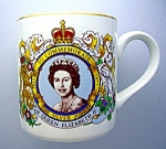 Click here to enlarge image and see more about item 0518200803: Queen Elizabeth II Silver Jubilee Coffee Mug . . .