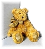 Click to view larger image of 19 IncBOYD Light Tan Pellet Fill Curly  Bear (Image2)