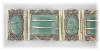 Click to view larger image of  Mexican Silver  Green Glass Brac Matching Ring (Image2)
