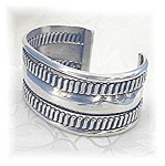 Click to view larger image of Sterling Silver Wide Cuff Bracelet. (Image1)
