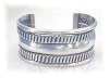 Click to view larger image of Sterling Silver Wide Cuff Bracelet. (Image2)