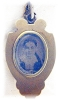 Click to view larger image of Glass Cameo Mourning  Antique Picture Locket Gold Fill (Image2)