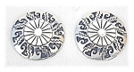 Click to view larger image of Taxco Mexico Sterling Silver Clip Earrings TP 2M (Image1)