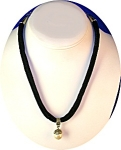 Black Velvet  Faux Pearl Silvertone Necklace