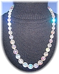 23 Inch Faceted Borealis Glass Bead Necklace