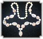 Rare Ivory 31 Inch Hand Carved  Bead  Faces Necklace