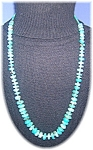 Turquoise Graduated Hand Cut  Turquoise and Heishi Spac