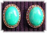 Sterling Silver Turquoise Gold Vermeil Earrings