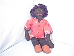 Click here to enlarge image and see more about item 0526200557:  Black Doll Male  Handmade  21 1/2 Inches