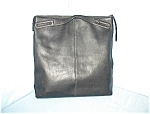 Click to view larger image of Extra Large Black Leather Banana Republic Bag (Image1)