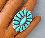 Click to view larger image of Native American Turquoise Sterling Silver LENA DENNY  (Image1)