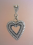 Click to view larger image of Sterling Silver Heart Pendant Marked Liberty (Image1)