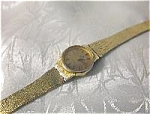 Click here to enlarge image and see more about item 05270302: Gold OMEGA Ladies Gold European  Quartz Wrist Watch