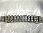 Click to view larger image of 3 Row Vintage Rhinestone Hair Barrette (Image1)