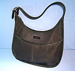 Coach Black Leather Microfibre Bag