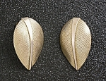 Earrings Napier Sterling Silver Gold Vermeil Leaf Clip