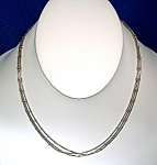 Necklace Sterling Silver 3 Row Snake  Ball Chains