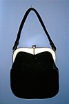 50s Black Velvet Lucite  Evening Bag GARAY