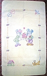 Click here to enlarge image and see more about item 0603200813: Disney Cross Stitch Mickey and Minnie Baby Quilt Kit