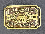1974 Brass Colorado Bi Centennial Belt Buckle