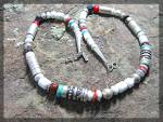 Click to view larger image of TOMMY SINGER White Buffalo Spiney OysterTurquoise Neckl (Image7)