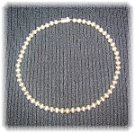 Click to view larger image of Necklace Sterling Silver Beads 6.5mm  (Image1)