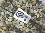 Click here to enlarge image and see more about item 0605200819: Navajo Sterling Silver Bolo Signed W Bennett Pat Pendin