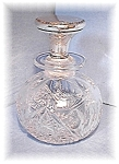Large Brilliant Cut Glass Sterling Topped Bot