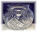 Click here to enlarge image and see more about item 0606200408: 2 1/2 Inch Tall Cut Crystal Bowl