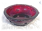 Click here to enlarge image and see more about item 0606200422: 4  Deep Red AVON  Cape Cod Desert Bowls