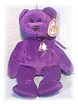 Click here to enlarge image and see more about item 0606200426: 1997 Purple 'Princess' Beanie Baby