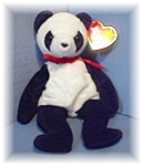 Click here to enlarge image and see more about item 0606200427: 1998 'Fortune' Beabie Baby Panda Bear