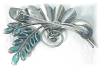 Click to view larger image of Sterling Silver Crystal Spray Art Deco Look Brooch (Image2)