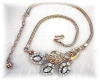 Click to view larger image of Crown TRIFARI Snake Chain Crystal  Necklace (Image2)