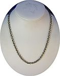 Click to view larger image of Necklace Sterling Silver Belcher Chain NZ 20 Inch (Image1)
