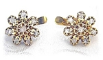 18K Asian Gold & Diamond Leverback Earrings