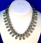 Click here to enlarge image and see more about item 06090249:  Necklace Silver Tribal Ethnic Bib