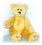 13 Inch Jointed Golden Curly TY Teddy Bear